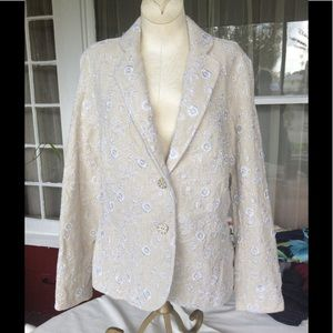 Coldwater Creek Embroidered Blazer NWT SP