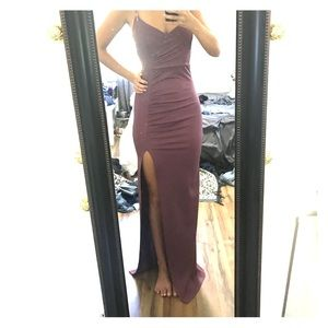Mauve tight prom dress