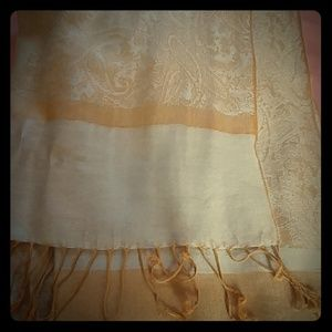 Gold/mustard lightweight woven scarf