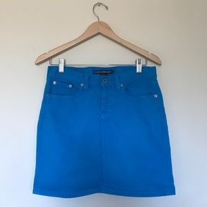 Ralph Lauren Bright Blue Denim Mini Skirt