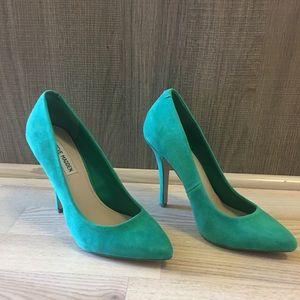 SM Green Suede heels