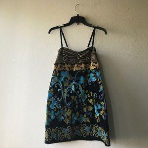 Free People Velvet Tapestry Dress
