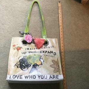 Handbags - Papaya Tote NEW Beautiful with Tassle