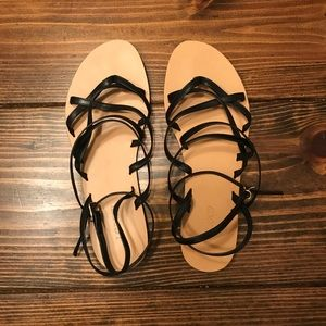 J. Crew lace up sandals - (Black) (size 8.5) NWOT