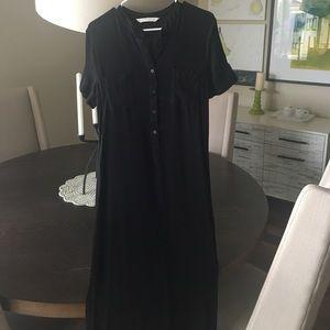 Pink Blush Black Maxi Maternity dress- Sz. L