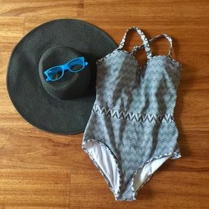 High Dive by Modcloth Chevron Swimsuit