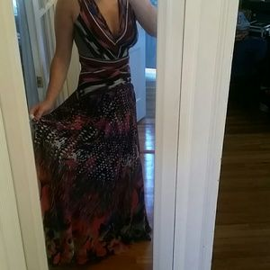 Floor length colorful gown