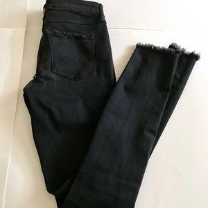 3x1 Black Skinny Butt Rip Jeans