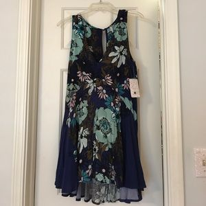 Free People Blue Floral Sleeveless Dress