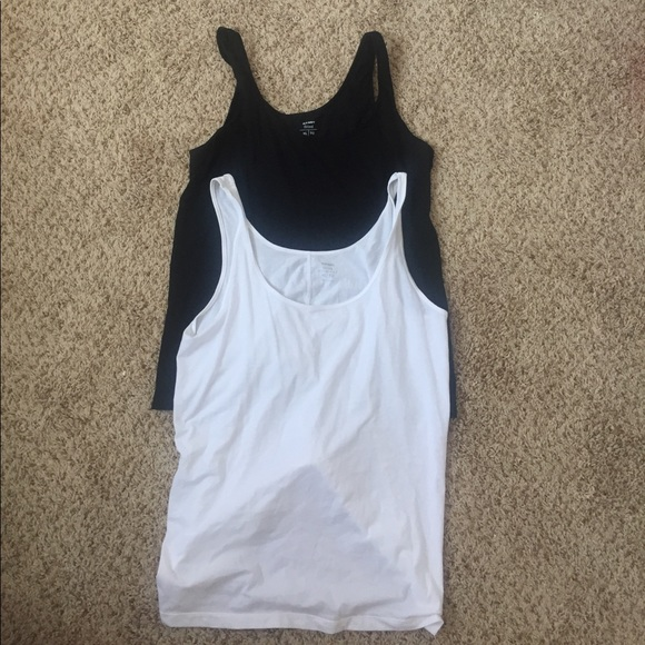 2bf3000ad0a65 Old Navy Tops - Two Old navy fitted tank tops solid black   white