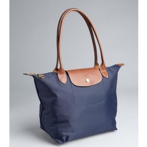 Longchamp Large Navy Le Pilage Tote -- Never used