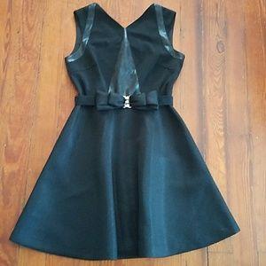 Badgley Mischka Black Dress with Bow Belt