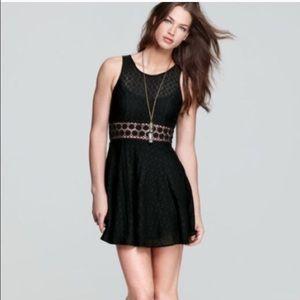 Free People daisy waist black dress