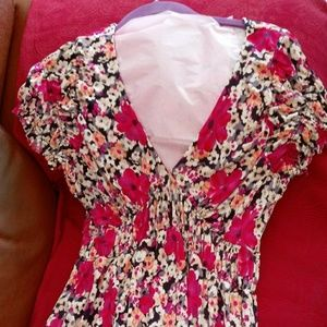 *mint condition* Multi floral Midi dress size 4
