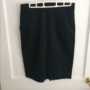 J Crew black skirt with ruffle detail