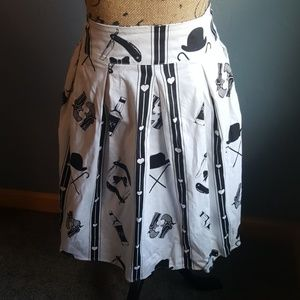 Rock Steady Western Cowboy Print Skirt