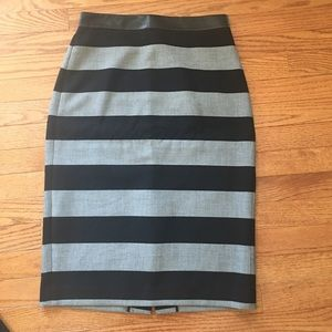 Gray and Black High Waisted Pencil Skirt