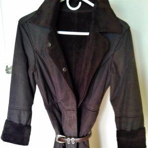 SISLEY Italian SHEARLING Full Length Coat - Jacket