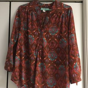 Multi-colored Tunic Blouse
