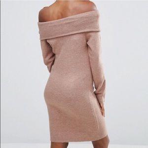 ASOS Sweater Dress off the shoulder