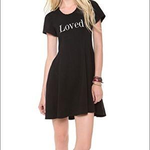 Wildfox LOVED Joan dress black fit flare medium