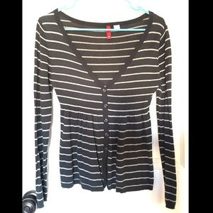 H&M Divided Striped Sweater, Sz Sm/US 4, Blue/Grey