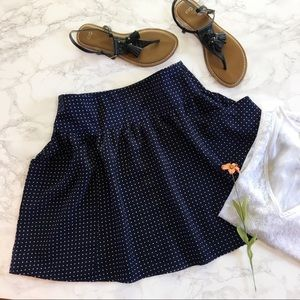 Navy Circle Skirt by Flat Black by Pegleg NYC