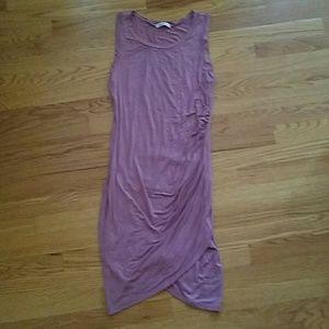 DOUBLJU Tulip Hem Ruched Bodycon Tank Dress M