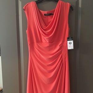 NWT Lauren Ralph Lauren jersey fabric dress