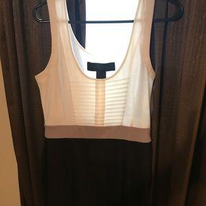 Kardashian body con white/grey/black dress size L