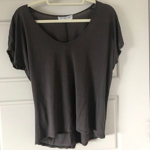 Urban outfitters grey scoop neck tee