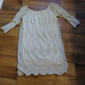 Boho style laced dress.