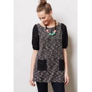 Anthropologie postmark staccato Lace Tunic M