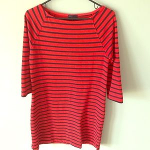 GAP XS red and blue stripe dress