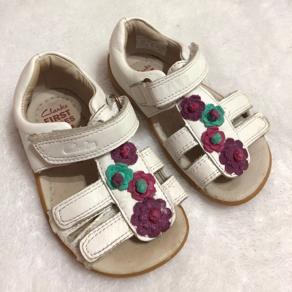 Planta fricción Picasso  Clarks Shoes | Leather Baby Sandals 45m | Poshmark