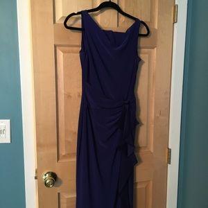 Long periwinkle dress
