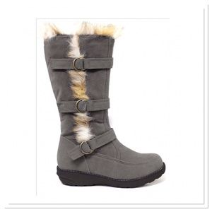 Gray Trapper Boots