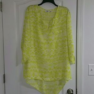 Cato high low blouse