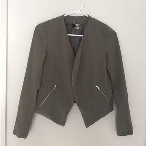 H&M | Olive Blazer Size 2 (xs-s)