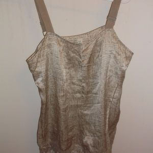 Banana Republic LP Tan Cami Tank Top  Laced Hem
