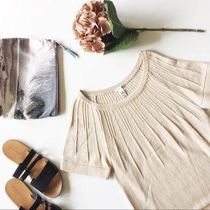 h&m • blush knit sweater