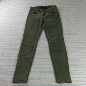 J BRAND Roz Skinny Slim Fit Moto 24 Green Jeans