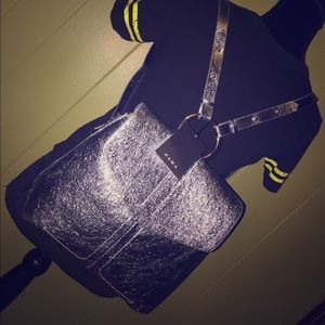 Zara Silver Metallic Daypack Backpack
