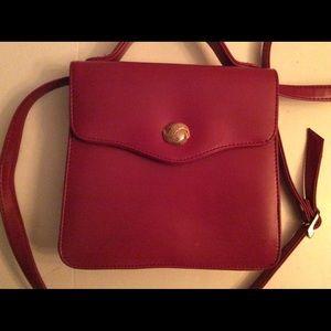 Vintage Red Monet Crossbody Bag