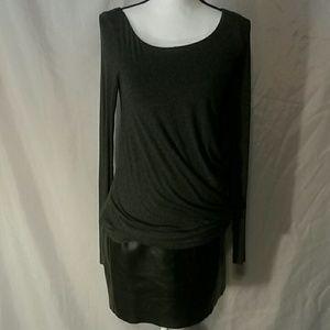Bailey 44 vegan leather dress Medium