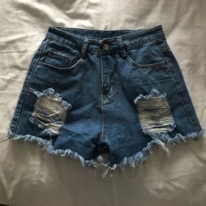 Urban outfitters high waisted distressed shorts