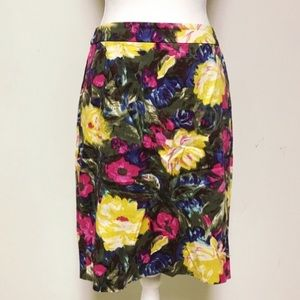 J.Crew floral pencil skirt (size 8)