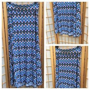 LuLaRoe Maxi Print Skirt SZ M