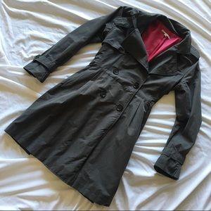 Gray Gap Trench Coat