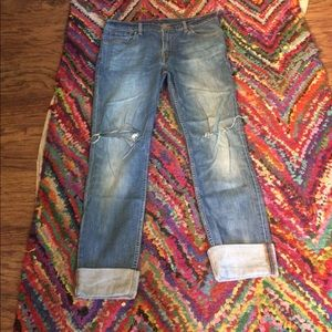 😎Levi's 510 super skinny 33 x 32 cuffed to ankle